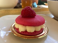 Raspberry Macaron Cake at Kappeli