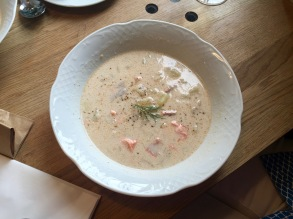 Creamy Salmon Soup at Story